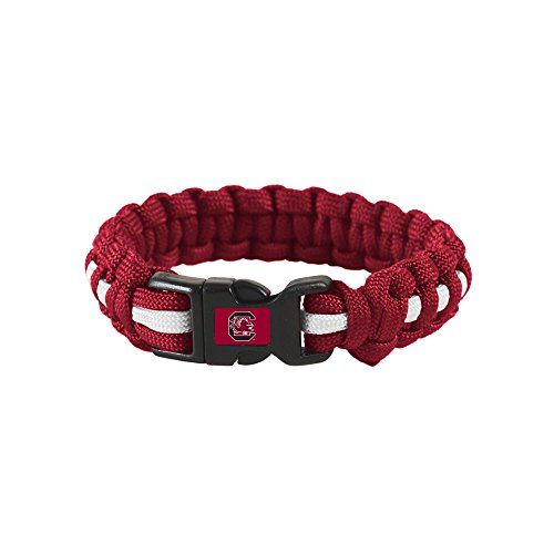 South Carolina Gamecocks Official NCAA Adult S/M 8 inch Long Survival Bracelet by Wincraft - Bracelet 8' Long