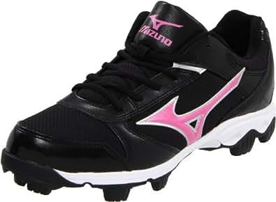 Mizuno Women's Finch Franchise 4 Softball Cleat,Black/Pink,11 M US