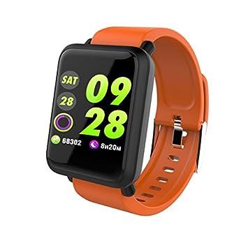 Anding Smartwatch con Pulsómetro,Impermeable IP67 Reloj Inteligente Rastreador de Ejercicios con Presión Arterial, Monitor de Sueño,Podómetro,Pulsera ...