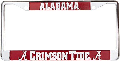 Game Day Outfitters NCAA Alabama Crimson Tide Metal Car Tag Frame, One Size, Multicolor Crimson Tide Car Tag