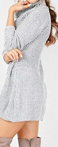 A Manica Maglioni Pullover Caldo Slim Maglieria Invernali Felpe Donna Collo Puro Lunga Collo Termico Colore Alto Autunno Vintage Elegante Moda Casual Maglione Pullover Alto Ba7TwY