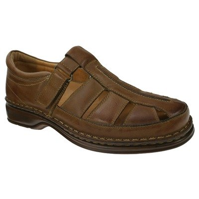 Fly Flot Men's Medium Brown Leather Spring Step Rylan 44 B(M) EU