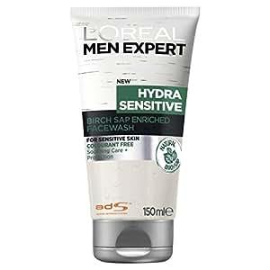 L'OREAL PARIS Men Expert Hydra Sensitive Face Wash, 0, 150 milliliters