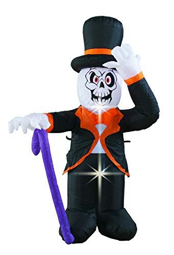 BIGJOYS 4 Ft Halloween Inflatable Ghost Gentlemen Decoration Lantern for Home Yard Garden Lawn Indoor and Outdoor Party
