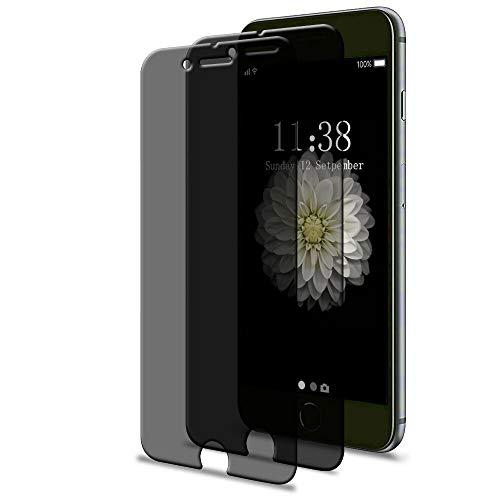 [2 Pack] iPhone 6 6s 7 8 Privacy Screen Protector, GPROVA [Anti Spy][Anti-Glare][Anti-Fingerprint][Anti-Scratch] No Bubble Ballistic Tempered Glass HD 2.5D Curve Edge Screen Protector 4.7