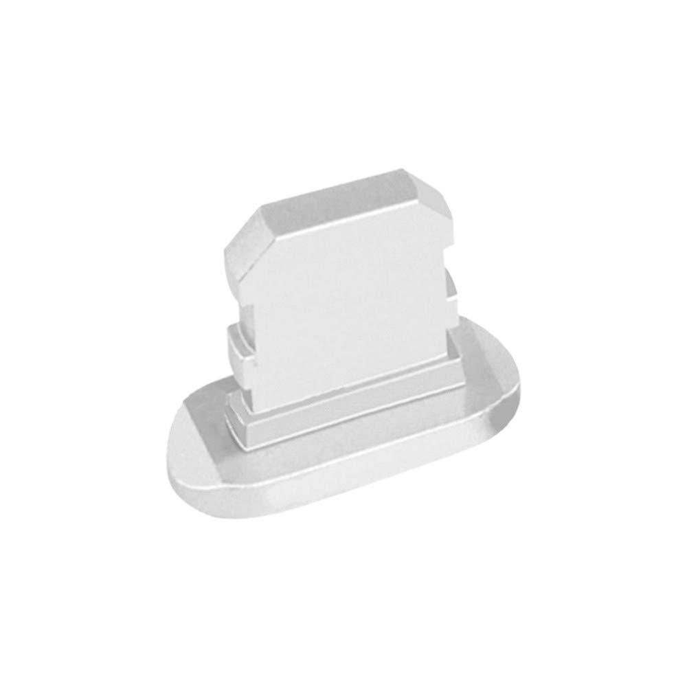 Colorful [ 3 Stück Staubschutz Staubstecker iPhone 7/8/X/XS/XS Max, Schutz für Apple Lightning Anschluss, Staubstöpsel aus hochwertigem Aluminium, Silber