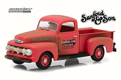 Greenlight 1952 Ford F1 Pickup, Red 86521 - 1/43 Scale Diecast Model Toy Car