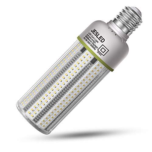 (60W LED Corn Cob Light - Mogul Base E39 Bulbs, 8100LM, 5000K Daylight, 250W Equivalent, HID/CFL/HPS Metal Halide Replacement, JESLED Warehouse Street Garden Garage Light for Large Area Bay Lighting)