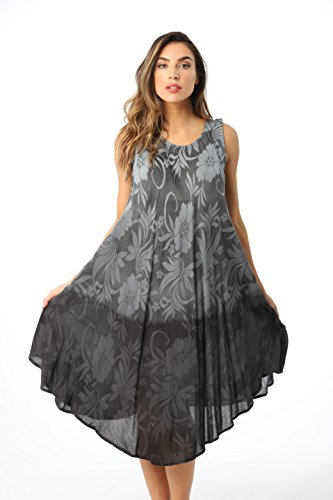 Sundress Cover - 21834-BLK-3X Riviera Sun Umbrella Dress