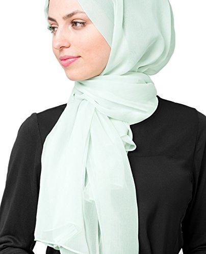 InEssence New Glacier Grey PolyChiffon Scarf Ladies Wrap Maxi Size Hijab