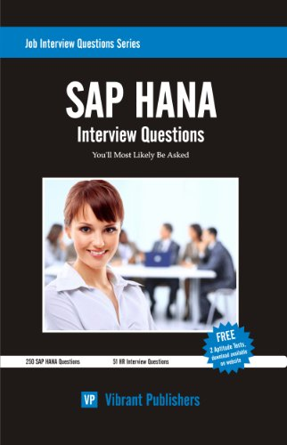 Download SAP HANA Interview Questions You'll Most Likely Be Asked (Job Interview Questions Series Book 1) Pdf