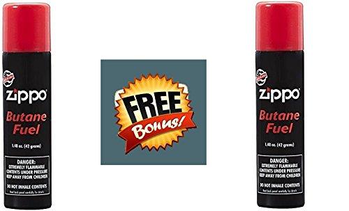 Zippo Butane Fuel, 1.48 oz. 42 Gram. 2 Pack