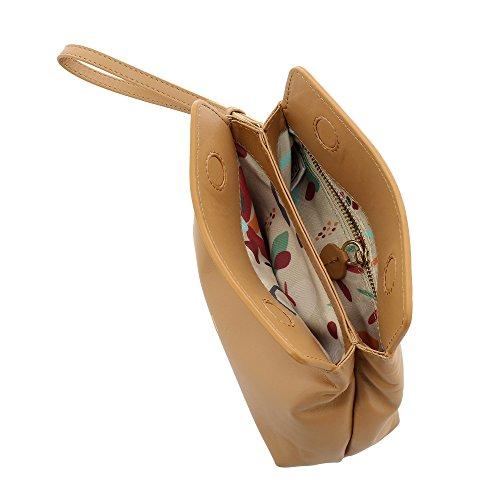 pochette lanière en et à fermeture véritable magnétique Sac avec main Peau amovible cuir DUDU It8qI