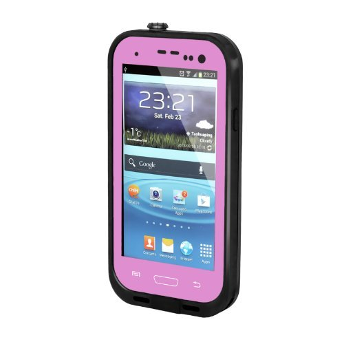 timeless design 132f7 af051 New Waterproof Shockproof Dirtproof Snowproof Protection Case Cover for  Samsung Galaxy S3 I9300 (Pink)