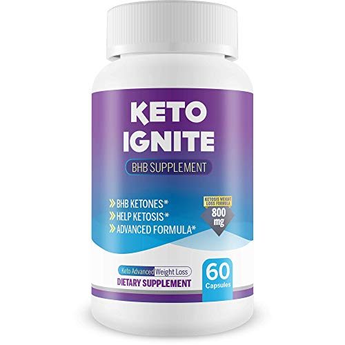 Keto Ignite Bhb Supplement - Help Burn More Fat & Burn Fat Faster with Faster Ketosis Entry - by keto advanced weight loss 800 mg - Bhb Power to Help Ignite Keto Fat Burning Faster Than Ever Before