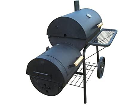Profesional XXL 90 kg de Ahumador Barbacoa de carbón (Barbacoa Parrilla chimenea 3, 5 mm Acero Profesional de Calidad: Amazon.es: Jardín