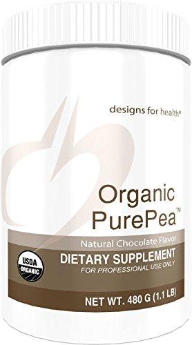 Designs for Health - Organic PurePea Chocolate - Natural Pea Protein Isolate Powder, Vegan + Non-GMO Peas, 1 lb