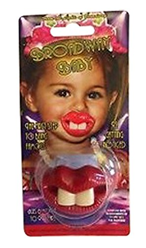 Two Front Teeth (Red Lips) Baby Pacifier (Discontinued by Manufacturer) -