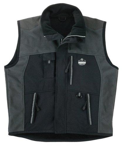 Ergodyne N-Ferno 6463 Men's Outer Layer Thermal Vest with Armortex Reinforcement in Heavy Wear Zones, XXX-Large - Fleece Mesh Parka