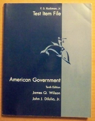 TEST ITEM FILES (AMERICAN GOVERNMENT)