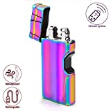 elite electronic cigarette - Elite Brands USA Dual Arc Rechargeable Windproof USB Lighter, Ideal for Smoking Cigar Cigarette Outdoor Camping Stoves Candles, Infrared Ignition, Electric Plasma Wave Lighter (Rainbow)