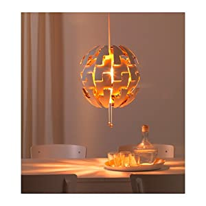ikea ps 2014 pendant lamp white copper colour amazon. Black Bedroom Furniture Sets. Home Design Ideas