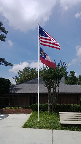 25ft Commercial Flagpole - Tapered Aluminum - Highest Quality - Made in USA