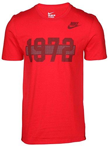 Nike Men's Pre Flight 1972 Graphic T-Shirt-Red-XL