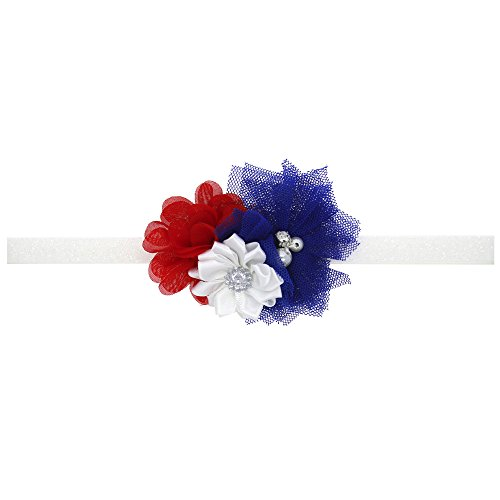 Hairband for Newborn Baby Girls Festival Parties Flowers Elastic Headband Suit for 0-2Y Infant Toddlers Kids Hair Bands ()