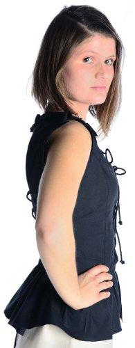 camicetta pizzo cotone HEMAD delle donne E puro posteriore Medievale BRa5wA