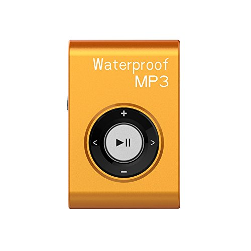 Waterproof MP3 Player for Swimming Sport MIUSUK Clip Design Lossless Audio Format 8GB Memory Waterproof Headphone FM Radio and Shuffle Function Swim Kit Music Player with Waterproof Earbuds in-Ear