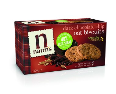 Nairns Oat Cookies Dark Chocolate Chip 7.1oz (200g) Case of 6