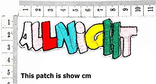 All Night Funny Cartoon Chidren Kids Embroidren Iron Patch/Logo Sew On Patch Clothes Bag T-Shirt Jeans Biker Badge Applique