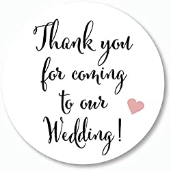 "40ct - 2""Wedding Stickers, Thank you for Coming to Our Wedding Stickers, Wedding Favor Stickers (#101)"