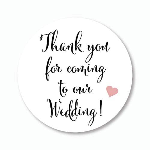 """2""""Wedding Stickers, Thank You For"""
