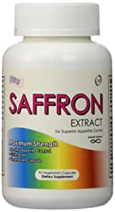 Saffron Extract-Appetite Suppressant that Works, 88.5mg, 90 Veggie Capsules, (Saffron Extract Satiereal), 1 Pill Per Serving, Appetite Control Pills, Help Prevent Emotional Eating and Over Eating, Have More Energy, Less Hunger, Lose Your Belly, Best Appetite Suppressant 2015