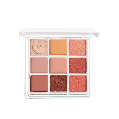 With Memories-Eyeshadow Palette Makeup - Matte Shimmer 9 Colors - Highly Pigmented - Professional Nudes Warm Natural Bronze Neutral Smoky Waterproof Cosmetic Eye Shadows (Beach Muse)