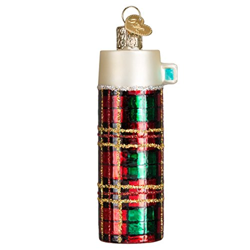 Old World Christmas Glass Blown Ornament with S-Hook and Gift Box, Profession Collection (Retro Thermos)