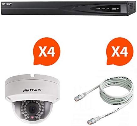 Hikvision Pack NVR 4Cámaras visión Nocturna kit6