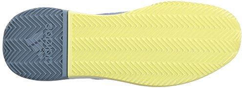 Adidas Mannen Adizero Uitdagend Bounce Tennisschoen Ruwe Grijs / Wit / Semi Bevroren Geel