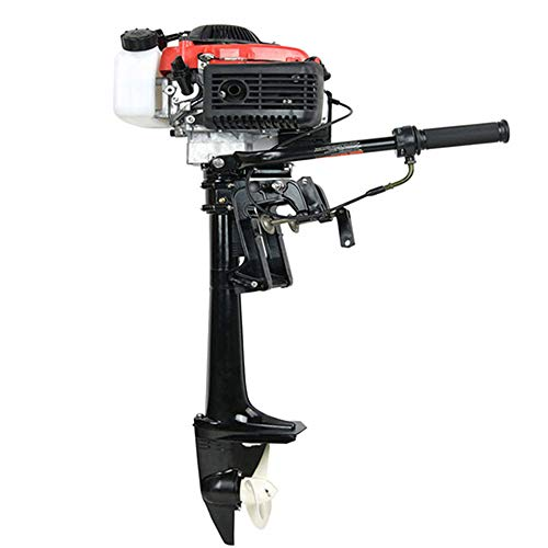 - Cozyel 4HP 4 Stroke Heavy Duty Outboard Motor Boat Engine W/Water Air Cooling System
