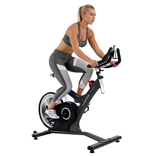 Sunny Health & Fitness Asuna Lancer Cycle Exercise Bike - Magnetic Belt Rear Drive Commercial Indoor Cycling Bike