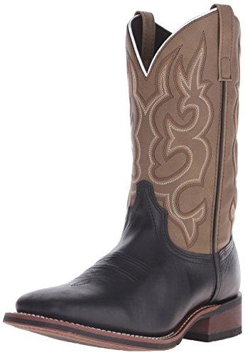 Black Boots 12 Laredo Cowboy - Laredo Men's Lodi Western Boot,Black/Sand,12 D US