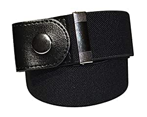 """FreeBelts - Buckle-Free Easy Comfortable Elastic Belt. No Buckle, No Bulge, No Hassle. Look Great And Breathe Comfortably. (Black, S (22""""-40""""))"""