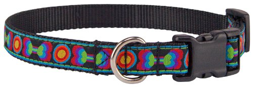 Country Brook Design Deluxe Funkadelic Bones Woven Ribbon Dog Collar Limited Edition - Medium