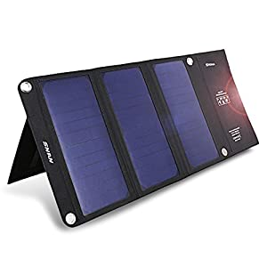 SNAN-Portable-21W-Dual-USB-Solar-Charger-with-Foldable-Solar-Panel-and-Stand