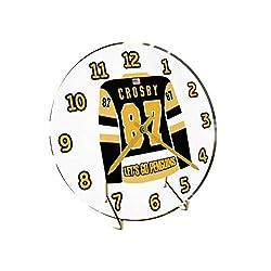 USA Hockey Legends Table Clocks - 7 X 7 X 2 N H L Jersey Themed Limited Edition Legend Desktop Clocks ! (S.Crosby 87 Pit Edition)