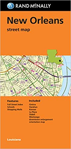 folded map new orleans street map rand mcnally