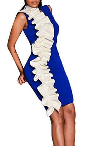Survêtement Veste Domple Ébouriffer Partie Mince Club Mini Moulante Bleu Robe