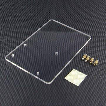 Arduino Compatible SCM & DIY Kits Arduino Compatible SCM Components - 5Pcs Experimental Platform For UNO R3 Board Fixation - 5 x Acrylic plate with screws and Silica gel pads